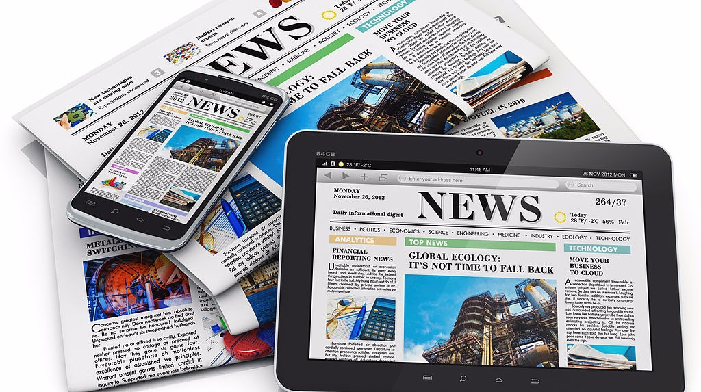Newspapers and tablets