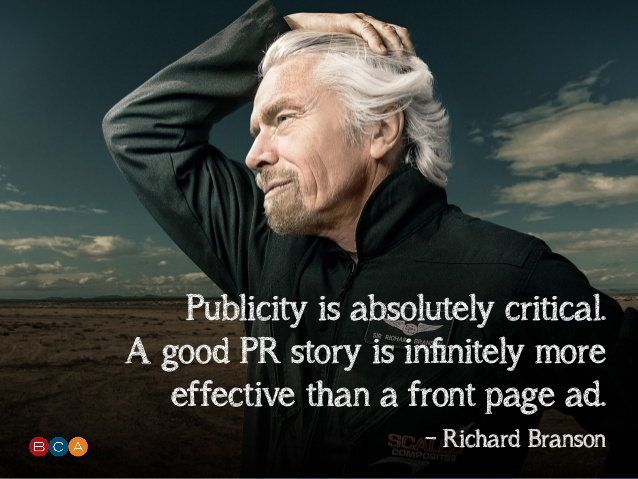 richard branson quote pr is critical